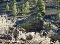 Rock Formations in Sunset Crater National Monument Near Flagstaff Arizona