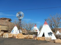 Cute Teepees outside of Native Craft store near Holbrook AZ Flagstaff to Albuquerque