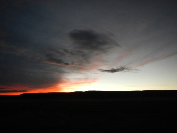 Sunset in New Mexico from Interstate 40