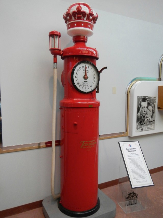 Old Red Gas Pump in National Automobile Museum Reno
