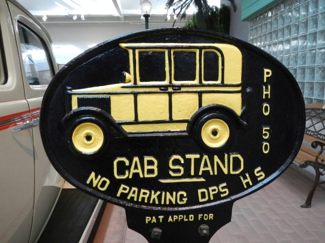 OLD CAB STAND SIGN - Reno Travel Guide