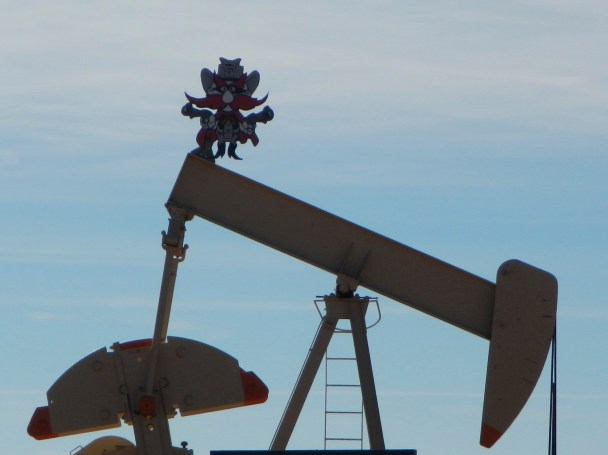 Oil Pump Jack Road Trip Post Texas