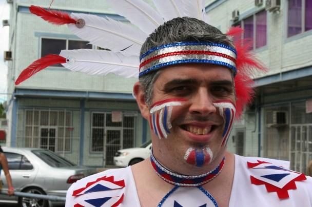 Closeup of Kenin - Carnival in Trinidad