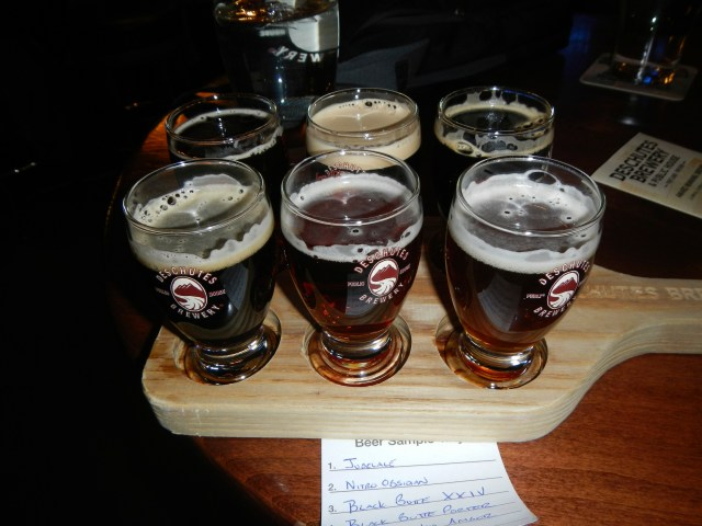 Beer Sampler at Deschutes