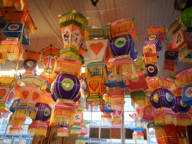 Lanterns in a Portland store