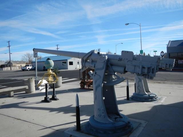 Naval Ship Guns along the road
