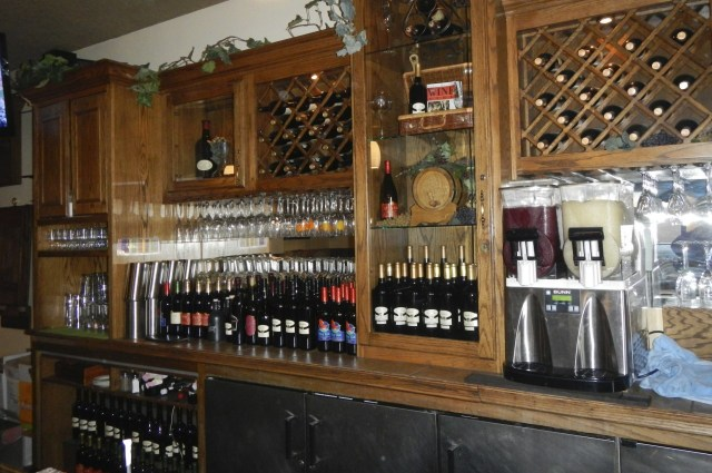 Wine bottles at St Clair Winery