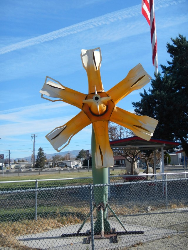 Roadside Attraction: Flower Made of Bombs