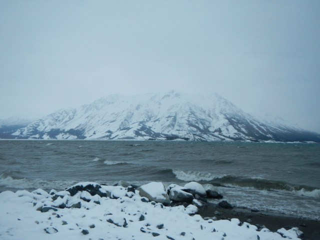 The fog was very dense on Kluane Lake