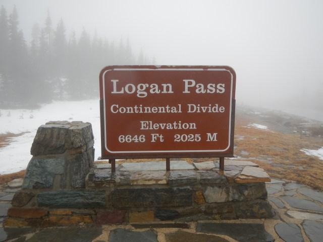 Logan Pass Sign