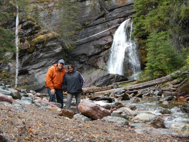 Kenin and Lauren at Saint Marys Falls