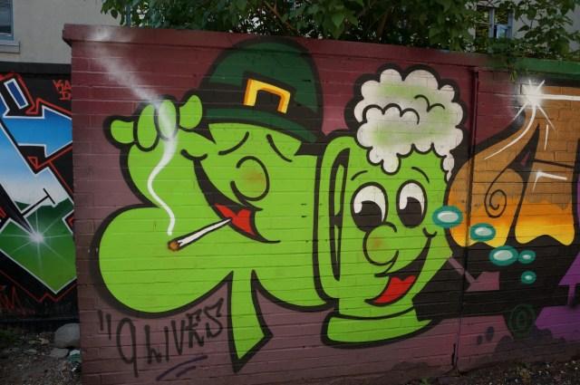 Toronto Graffiti Clover and Beer