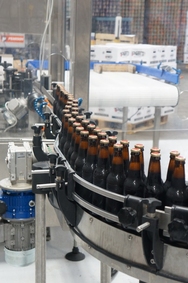 Fresh Bottles Coming off the line at Cigar City Brewing