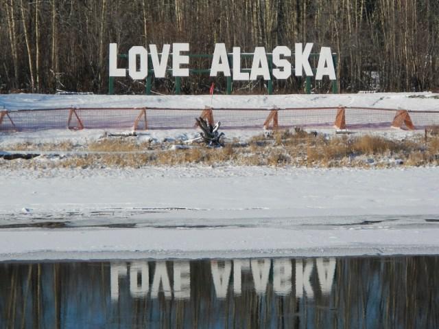 Love Alaska Sign Fairbanks - RoomWithAView