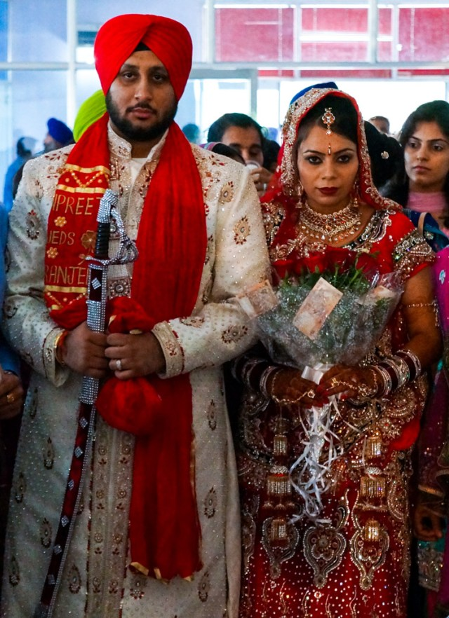 A Sikh Indian Wedding Couple