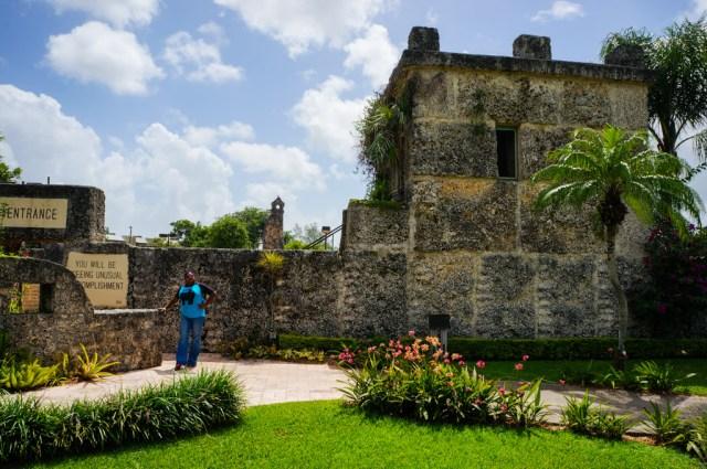 Lauren at the Coral Castle Entrance