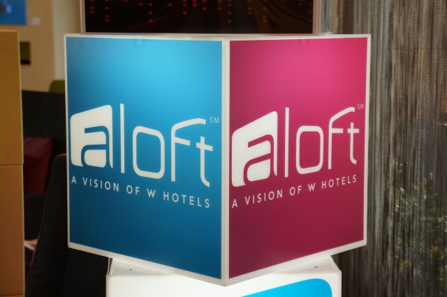 Aloft Hotel Review - Light Box Sign