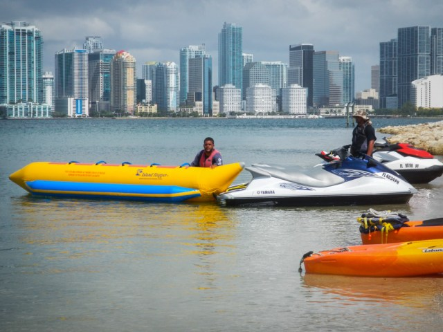 """Our """"Banana Boat"""" being prepared"""