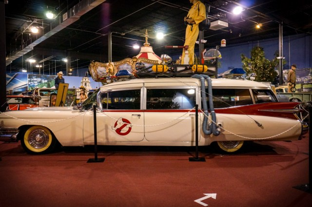 Car from Ghost busters on display as part of the Dezer Collection