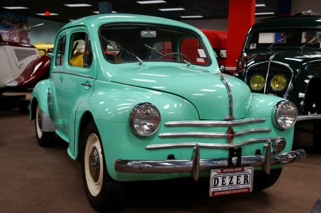 Renault 4CV LIght Blue Miami Automobile Museum Dezer Collection 42-1