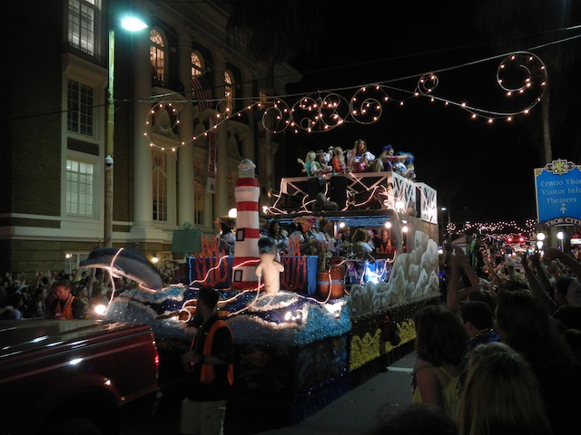 Tampa's Ybor City during a Parade