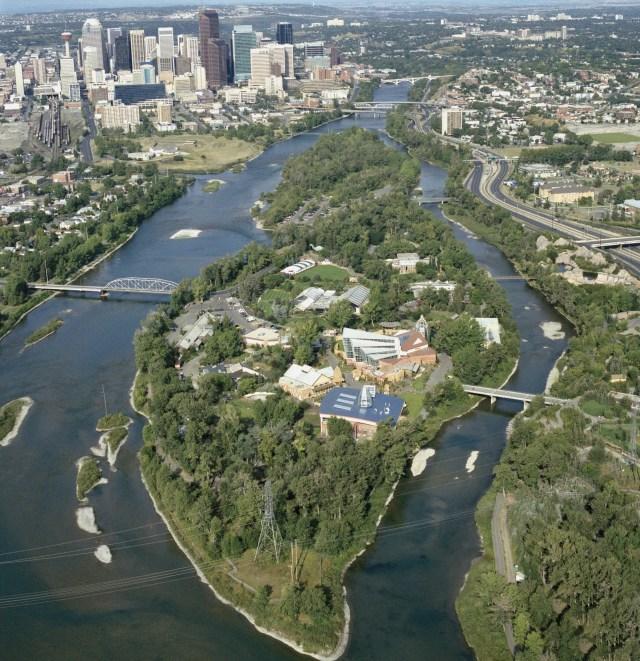 Before the Calgary Zoo Flood -  A Pristine Zoo Island