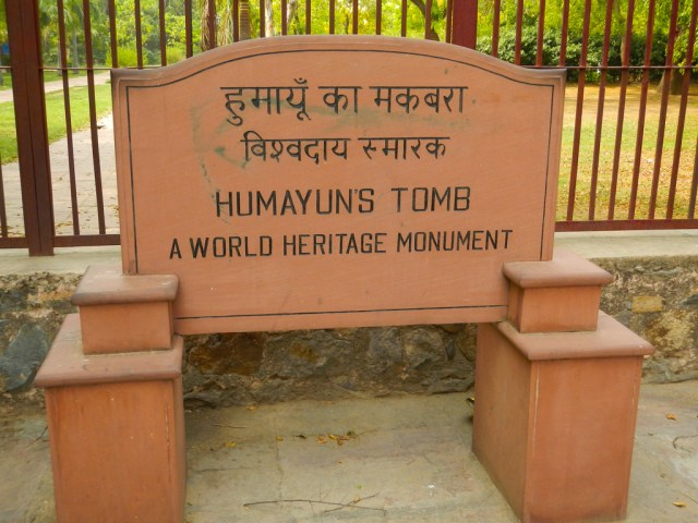 Entrance Sign for Humayun's Tomb