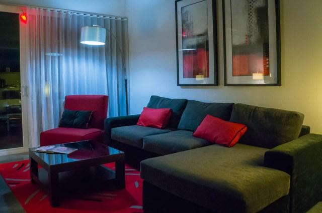 Hotel Red Sofa