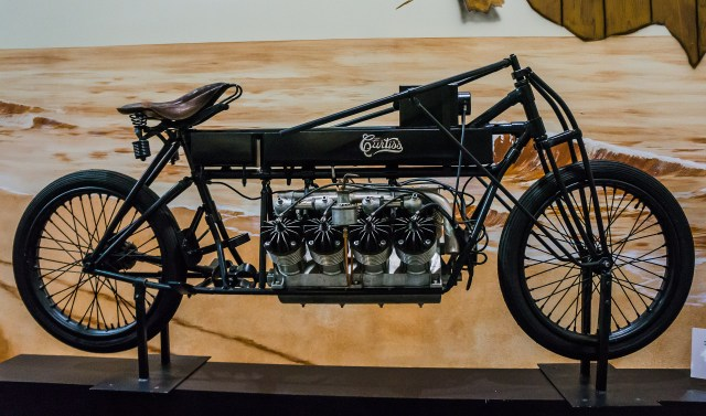 Curtiss Motorcycle with a V8 Engine