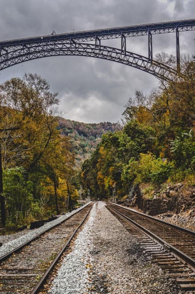 New River Bridge Over Train Tracks
