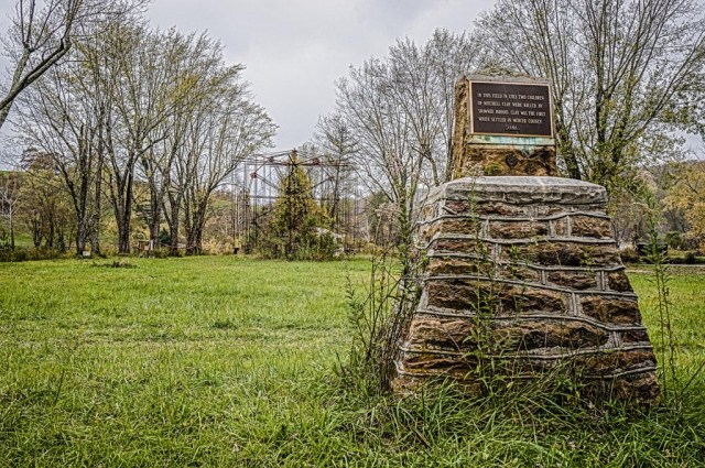 Monument to Clay Family at Lake Shawnee