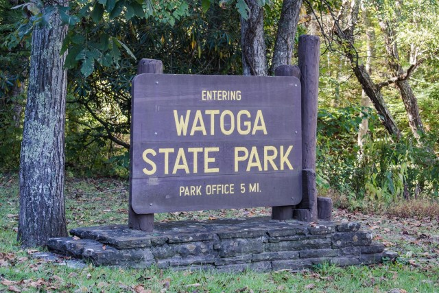Watoga State Park Sign