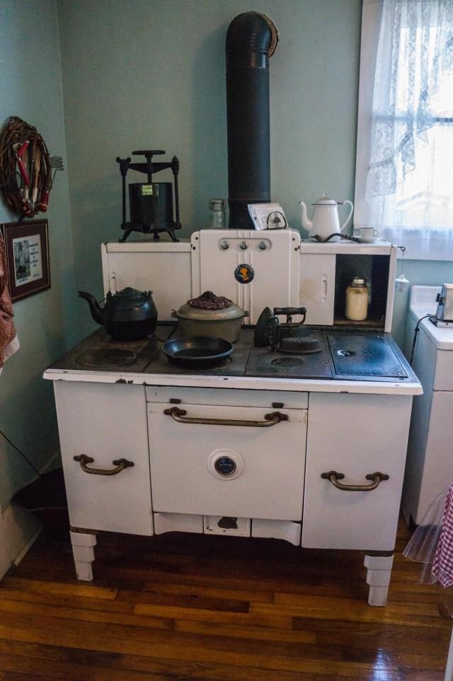 Coal miner house stove