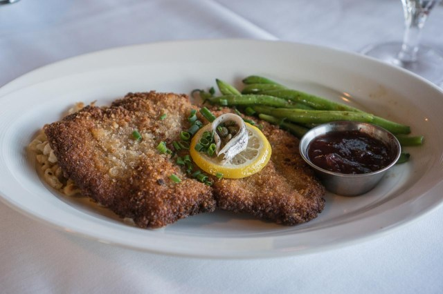 Wiener Schnitzel  at the Trapp Family Lodge