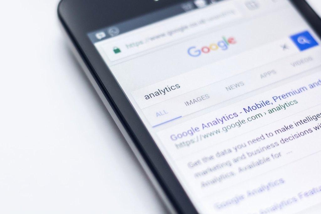 Google Analytics zoeken in Google