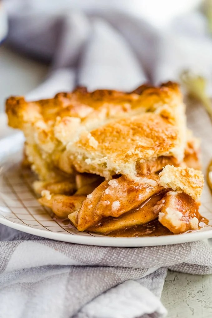 Homemade Apple Pie on a small plate