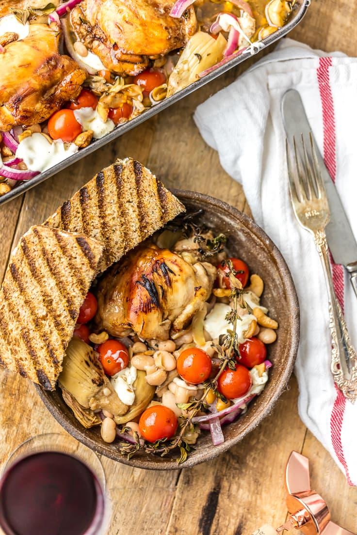 Mediterranean Chicken Bake Recipe Balsamic Baked Chicken