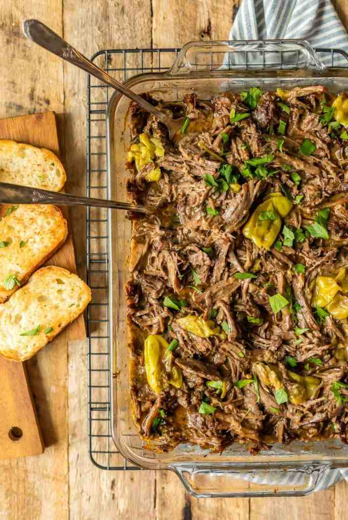 Mississippi Roast recipe with pepperoncinis