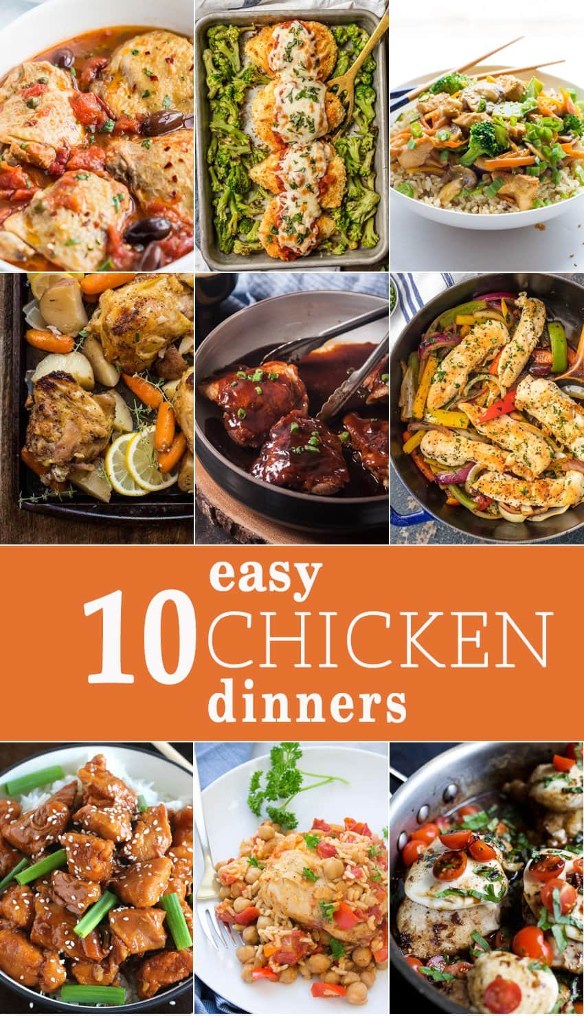 10 Easy Chicken Dinners - The Cookie Rookie®