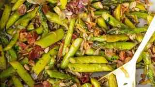 Sauteed Asparagus Recipe with Pancetta (BEST Asparagus Recipe)