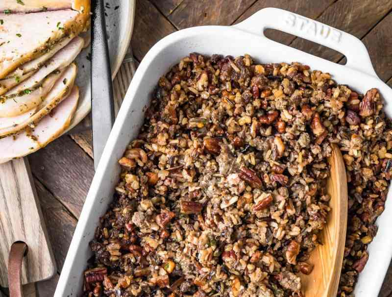 Baked stuffing ready to serve