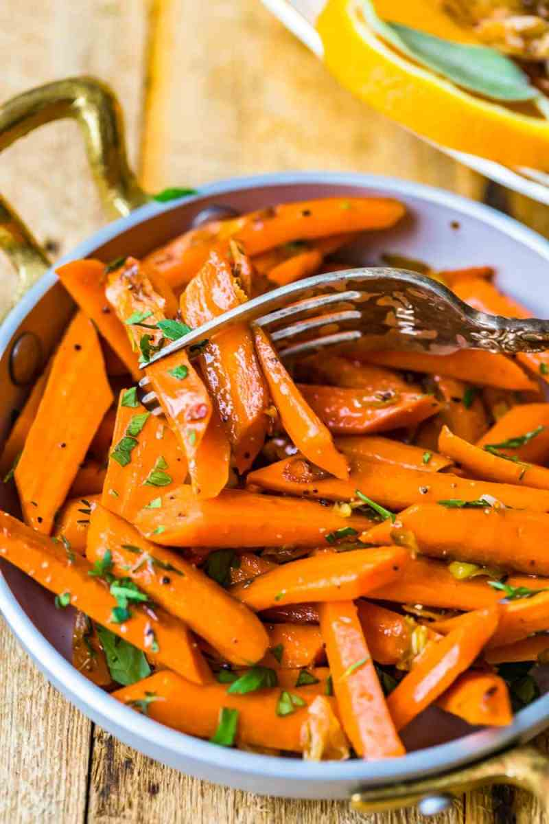 Carrots on a fork