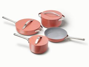 Caraway ceramic coated cookware