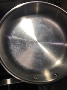 white spots on SS pans