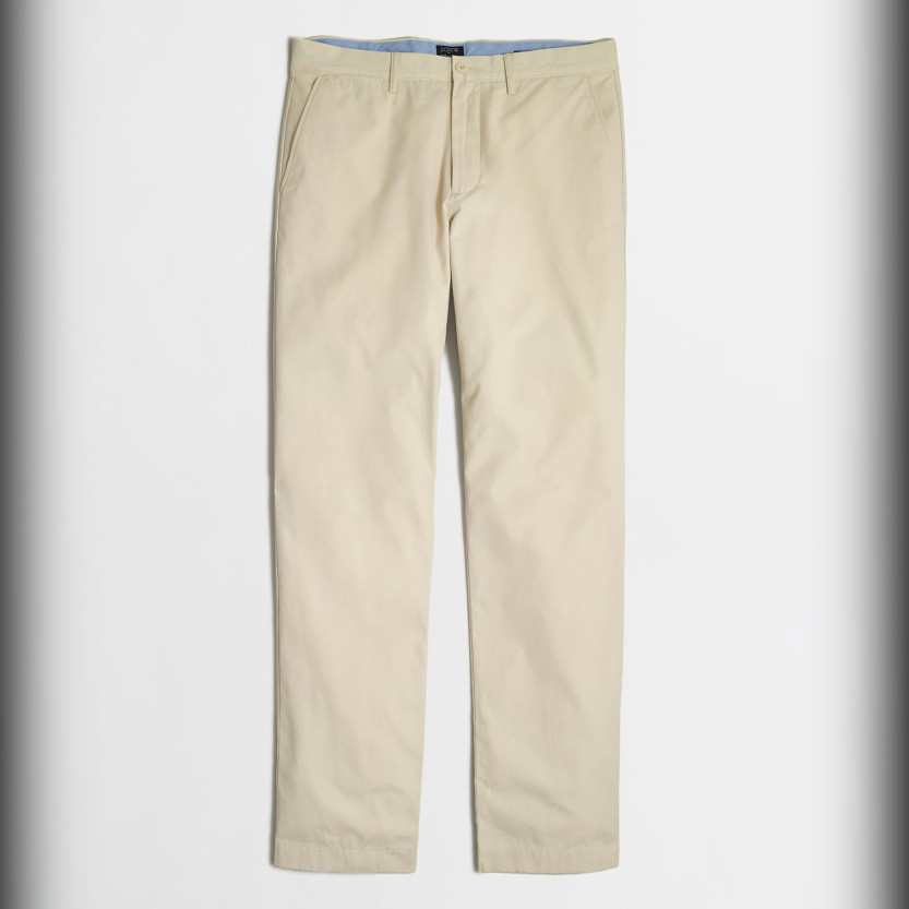 J.Crew Factory Sutton Lightweight Chino - summer pants for men beach