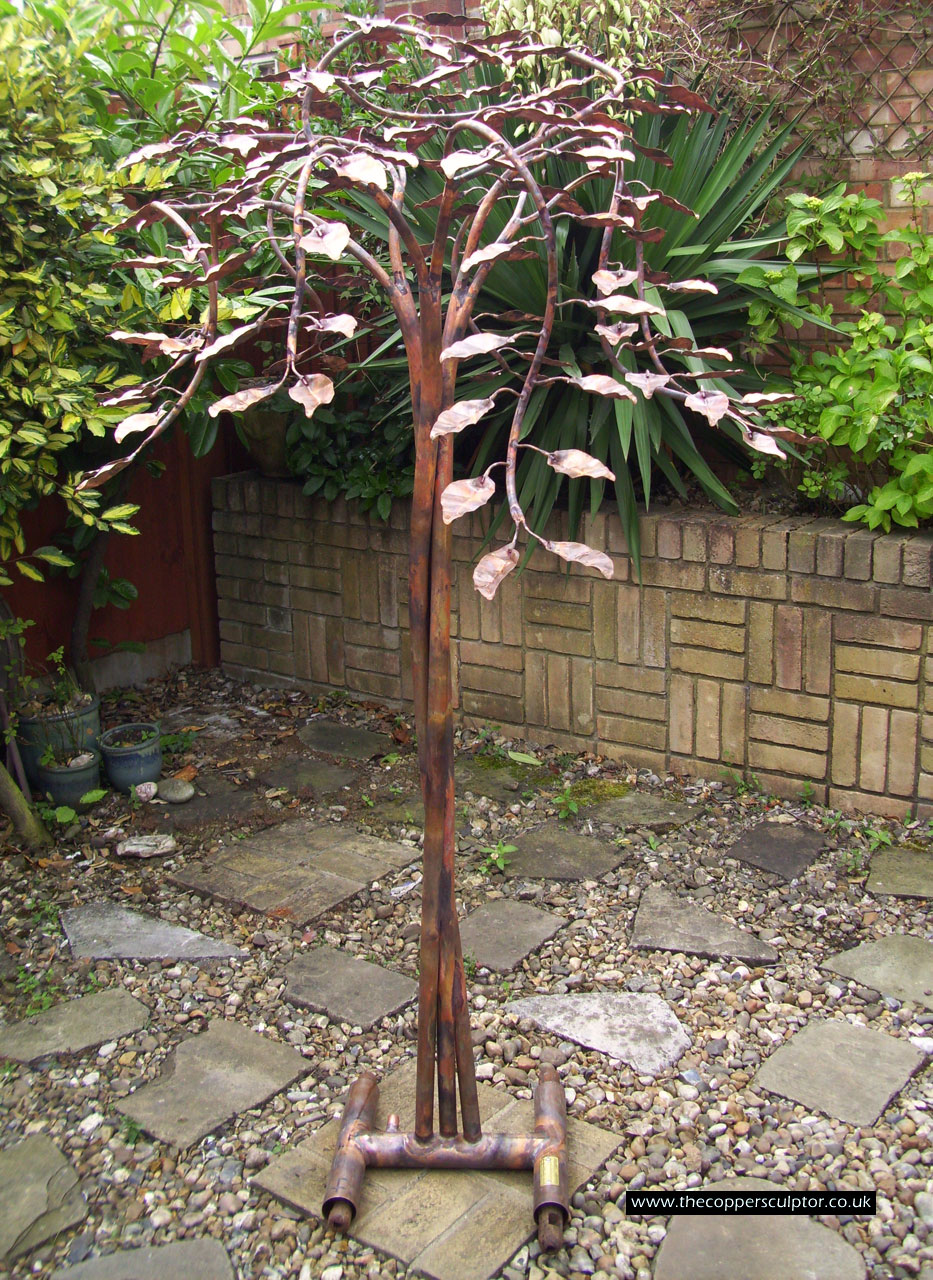 the copper sculptor specializing in copper tree water Tree Water Feature id=88695