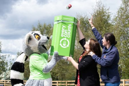 Fota Wildlife park promotes drinks can recycling