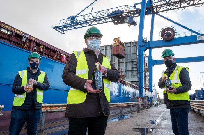 IRISH FOOD EXPORTS: Kinsale Gin Departs Port of Cork for China