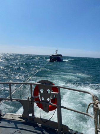 Ballycotton RNLI Lifeboat launched to fishing vessel with engine trouble south of Cork Harbour