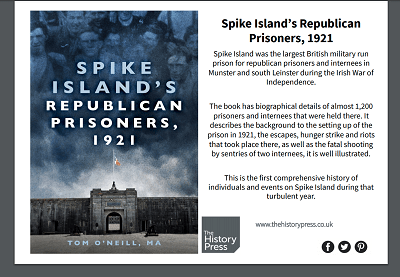 NEW BOOK: looks at how Spike Island, Cork Harbour featured in 1921 War of Independence